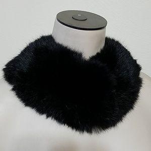 VINTAGE Rabbit fur collar